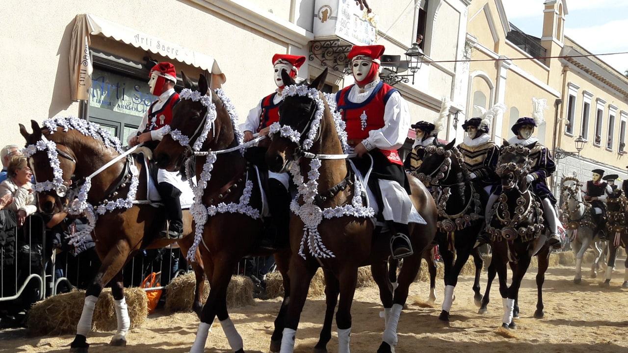 Sa Sartiglia, sfilata dei cavalieri