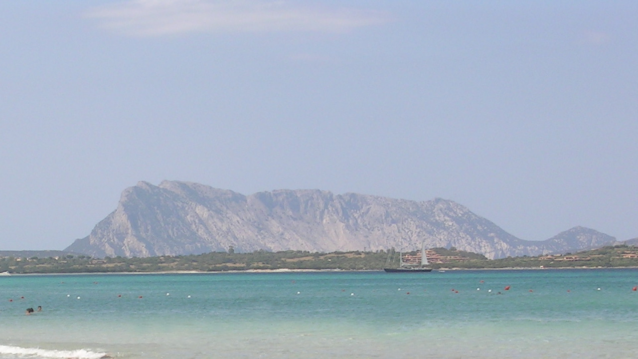 San Teodoro beach, view of Tavolara