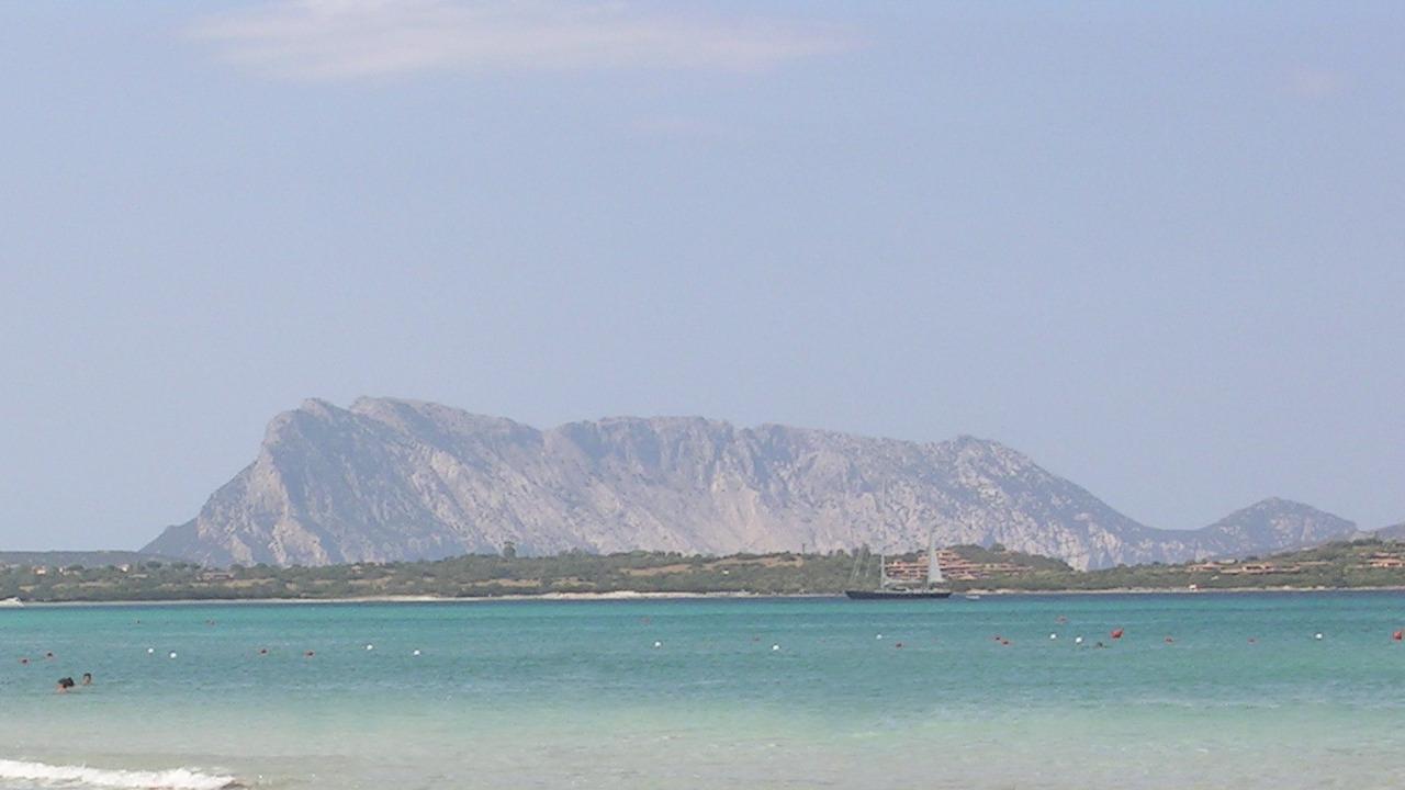 San Teodoro beach, view of Tavolara