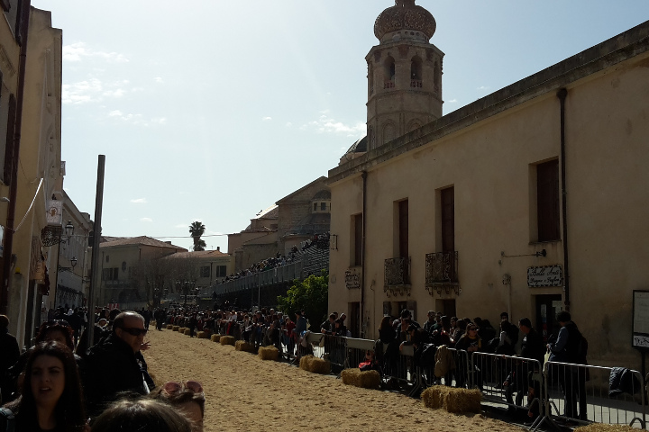 Duomo of Oristano during Sartiglia
