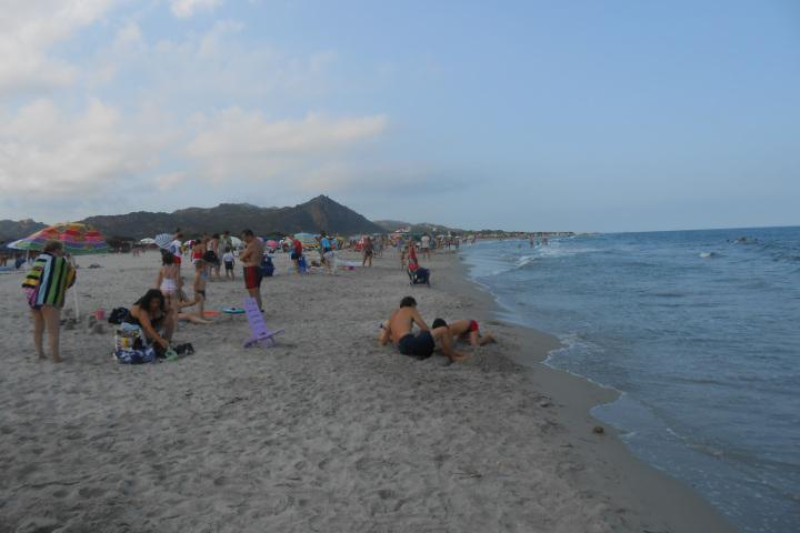 Bathers at Berchida beach