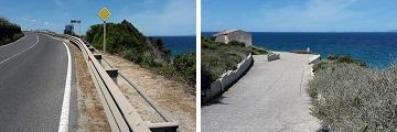 Accès Punta La Capra