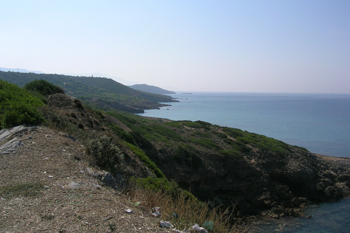 The coast near Cala Burantino