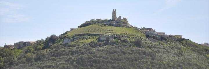 Le contour du Château de Chiaramonti