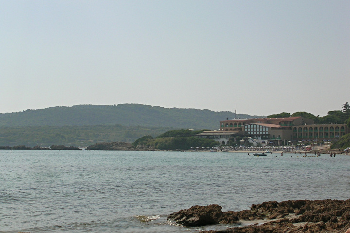 View of Le Bombarde beach