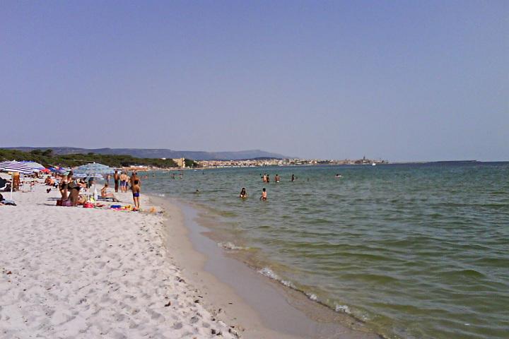 Maria Pia beach and Alghero