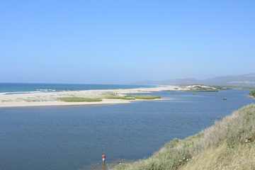 Coghinas river and the sea