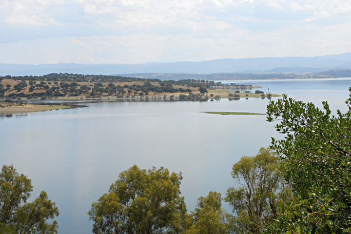 Coghinas lake panorama