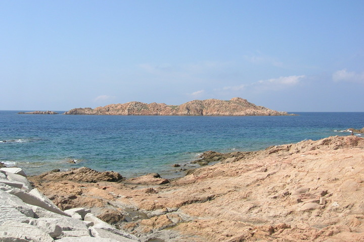 View of the Red Island, Isola Rossa