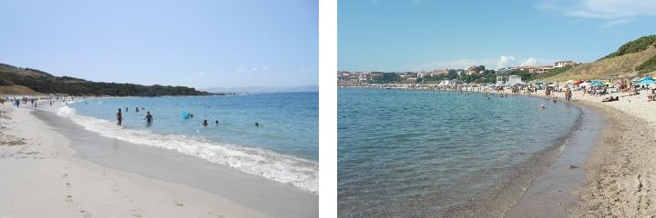 Spiaggia Longa, views