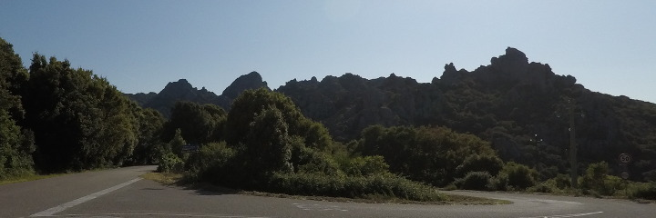 Panoramic road of Aggius