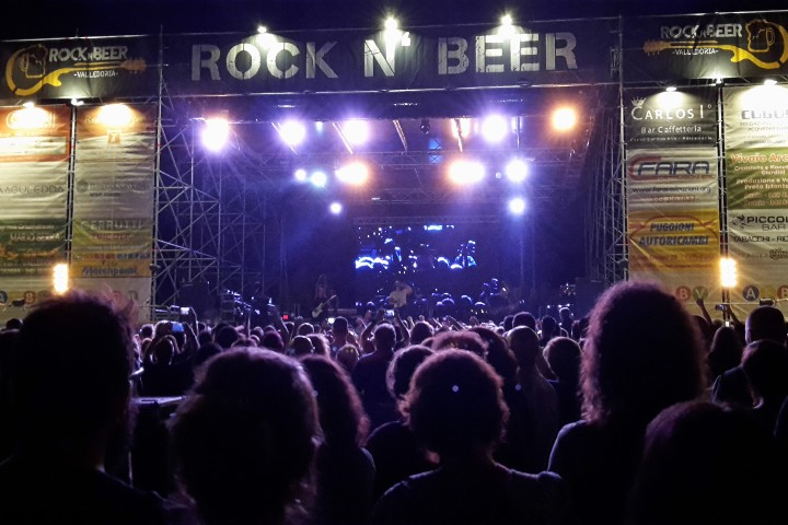 Rock concert in Valledoria