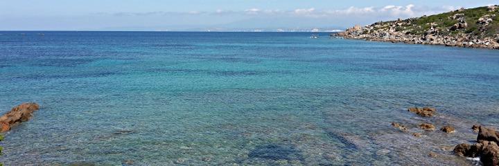 The sea near Porto Quadro
