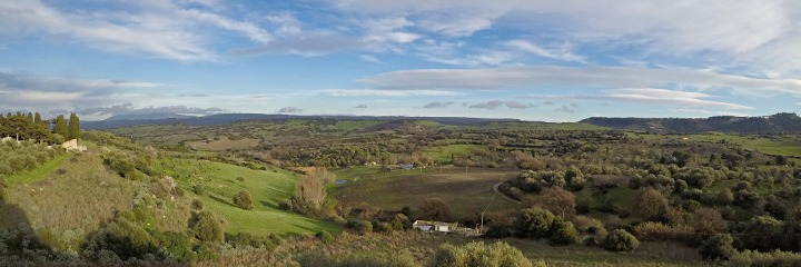 Panorama near San Pantaleo