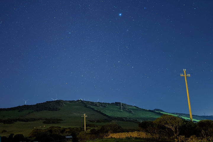 Astrophotography, starry sky in Anglona