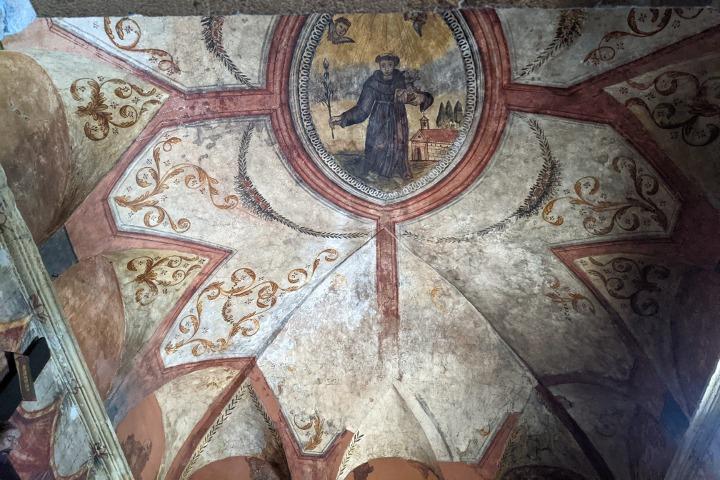 Fresco of the saint