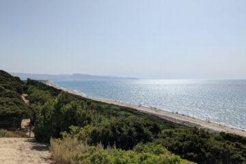 Badesi, panorama of Li Feruli beach